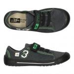 Детские кеды-тапочки 3F Fredom For Feet URAN 4SK8/17 серо-зеленые