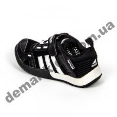 Детские кроссовки Adidas Daroga черно-белые сквозная сетка