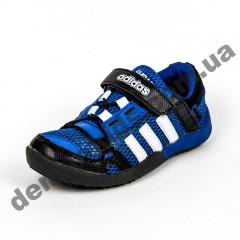 Детские кроссовки Adidas Daroga сине-белые сквозная сетка