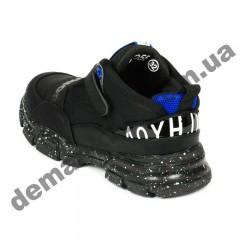 Детские полуботинки-кроссовки Apawwa MQ55-1 черно-синие