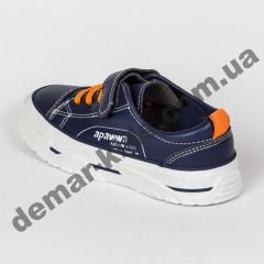 Детские кроссовки кеды Apawwa VC73-1 NAVY сине-оранжевые 31-36