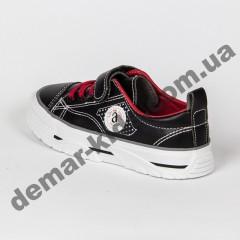 Детские кроссовки кеды Apawwa VC75-1 BLACK черно-красные 31-36
