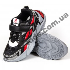 Детские кроссовки Apawwa GC33-1 BLACK черно-красные 32-37