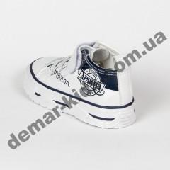 Детские кроссовки кеды Apawwa VQ71-1 WHITE бело-черные 31-36