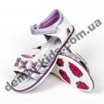 Детские ортопедические босоножки Bessky фиолетовые цветы средние