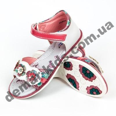Детские ортопедические босоножки Bessky персиковые цветы средние