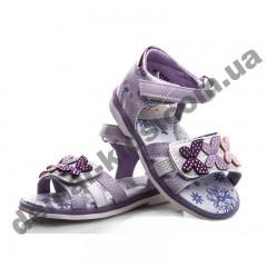 Детские ортопедические босоножки Bessky фиолетовые бабочки