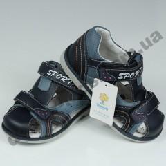 Детские ортопедические босоножки Tom.m синие закрытый носок