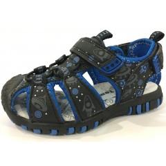 Детские босоножки ТОМ.М черно-синие закрытый носок