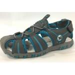 Детские босоножки ТОМ.М серо-голубые закрытый носок