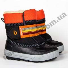 Зимние дутики Demar CRAZY B черно-оранжевые 20-29