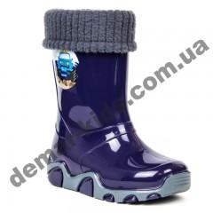 Детские резиновые сапоги Demar STORMER LUX D ( темно-синий )