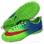 Детские сороконожки Nike Mercurial зеленые