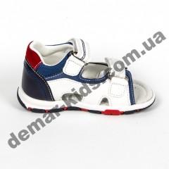 Детские босоножки Jong Golf  A911-7 сине-белые