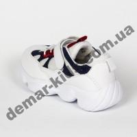 Детские кроссовки Jong Golf B90202 бело-синие 26-31