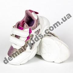Детские кроссовки Kimbo-o DD56-2C бело-малиновые