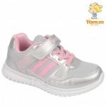 Детские кроссовки Том М 5564E серебряно-розовые средние