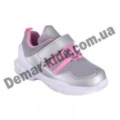 Детские кроссовки Том М 0267C серебряно-розовые средние