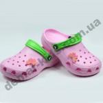Детские сабо кроксы (сланцы, шлепки, вьетнамки ) Jose Amorales розовые бабочка
