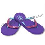 Детские сланцы ( шлепки, вьетнамки ) Super-Gear фиолетово-бирюзовые