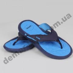 Детские сланцы ( шлепки, вьетнамки ) Wink сине-голубые ( подросток )
