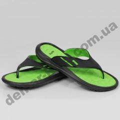 Детские сланцы ( шлепки, вьетнамки ) Wink черно-зеленые ( подросток )