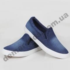 Детские слипоны SLIP ON Wink синие подошва полиуретан ( подросток )