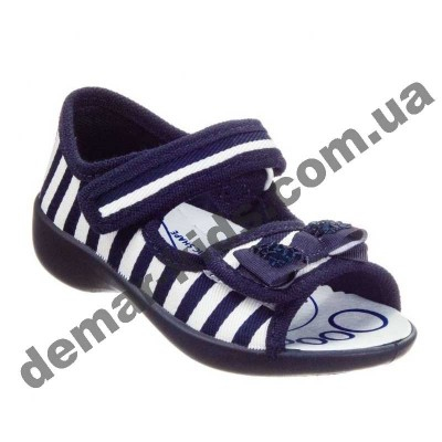 Детские босоножки-тапочки 3F Fredom For Feet Maja 3SA22/8 синие-белая полоска