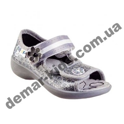 Детские босоножки-тапочки 3F Fredom For Feet Maja 3SA22/10 серебро