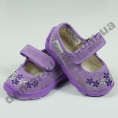 Детские тапочки Vitaliya малютки фиолетовые цветочки