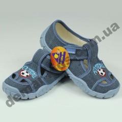 Детские тапочки Wiggami серые футбол