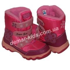 Детские термоботинки SUPER GEAR А 7043 / 7060  (малиново-розовые)