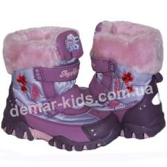 Детские термоботинки SUPER GEAR А 8462 (фиолетовые)