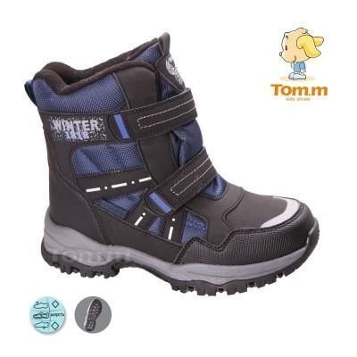 Детские термоботинки Том М черно-синие большие ( Winter )