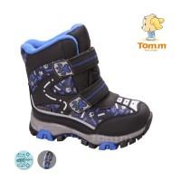 Детские термоботинки Том М черно-синие маленькие ( лапки )