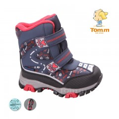 Детские термоботинки Том М черно-сине-красные маленькие ( лапки )