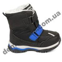 Детские термоботинки Том М C-T57-22-C черно-синие маленькие