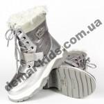 Детские термоботинки Том М C-T7903-E серебряные 33-38