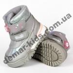 Детские термоботинки Том М C-T7677-H серые 23-28