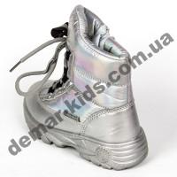 Детские дутики-термоботинки Том М C-T7708-E серебряные 27-32