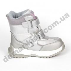 Детские термоботинки-дутики Том М C-T9527-C серебро 23-28