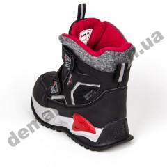 Детские термоботинки Том М C-T9414-A черно-красные 28-33