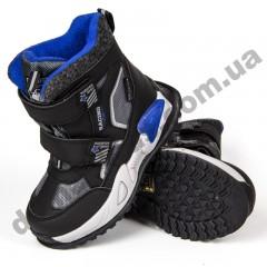 Детские термоботинки Том М C-T9414-C черно-синие 27-32