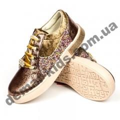 Детские кроссовки-слипоны TomM золото