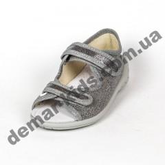 Детские текстильные босоножки Waldi Ира серебро 23-30