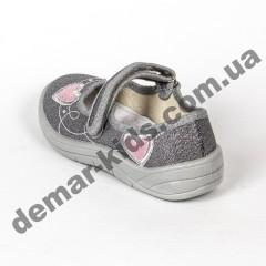 Детские тапочки Waldi Алина сердце розовое серебро 24-30