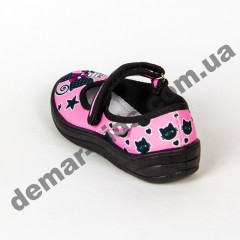 Детские тапочки Waldi Алина котики черно-розовые 24-30
