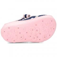 Детские тапочки Wiggami горошки розовые бантики