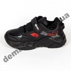 Детские кроссовки Baas K6158-1 черно-красные
