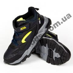 Детские кроссовки Baas K6161-3-1 черно-зеленые